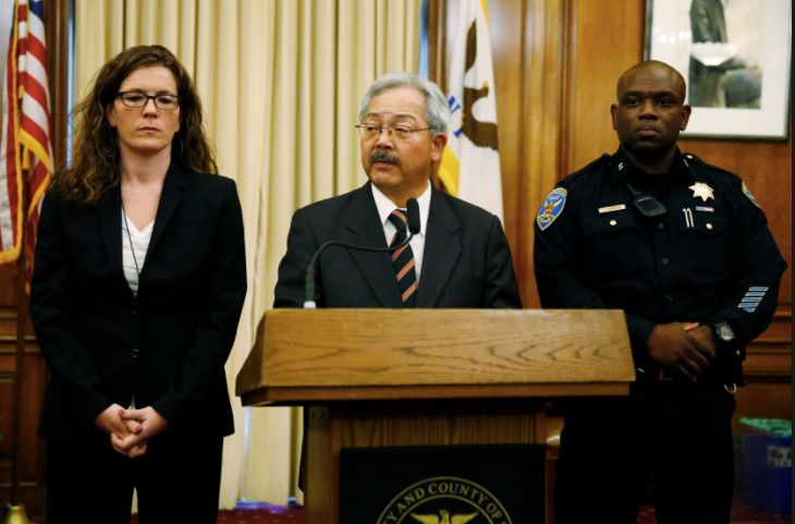 Mayor Ed Lee announces Greg Suhr's resignation and Toney Chaplin's appointment as Interim Chief of SFPD with SF Police Commis