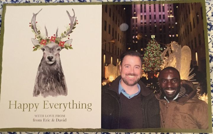 Eric and David's Christmas Card (note the double from - mom caught that typo).