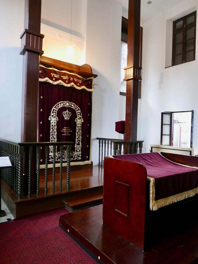 <strong>The Ohel Moshe Synagogue, where Jews escaped the Holocaust in Shanghai.</strong>
