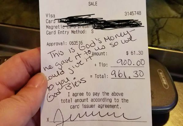 The receipt that changed Sarah Clark's holiday season.