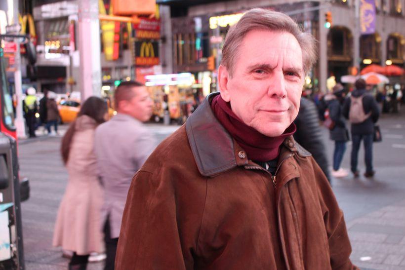 Joe Krawczyk in Times Square.