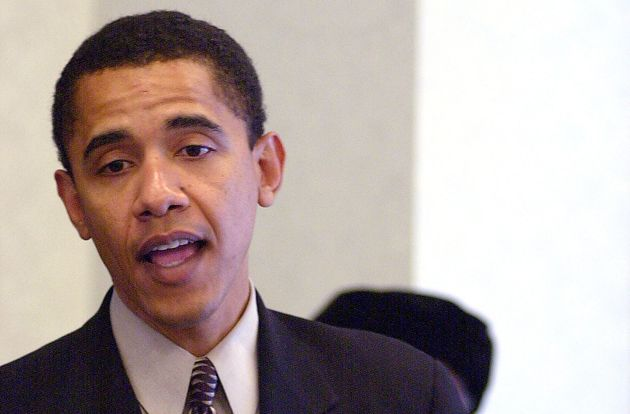Future President Barack Obama in 2000, fresh off a congressional loss and relegated to the fringes...