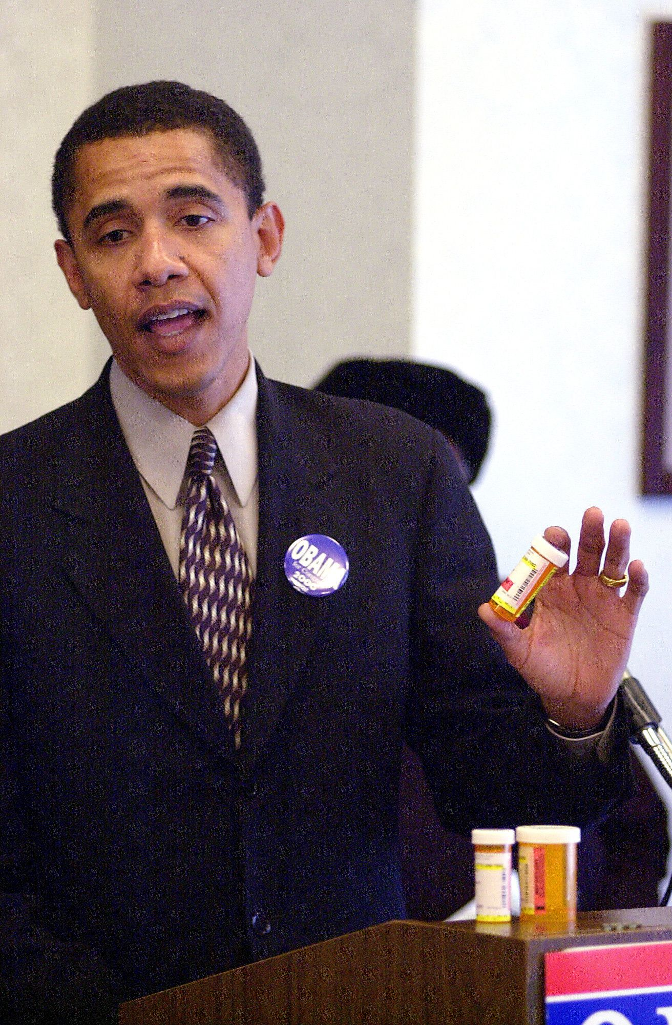 Then-Illinois State Senator Barack Obama, shown January 16, 2000 in Chicago, Illinois, worked with Democrats, Republicans and especially with police and prosecutors to fashion a bill to overhaul the death-penalty law that all of them could support. By the time it reached the Senate floor, everyone was on board. It passed in a unanimous vote, and is now Illinois law. How Obama did it reveals a lot about his political style, which is at the core of his appeal. It defines an approach to political problem solving that he vows can change how Washington does business.  (Photo by Phil Velasquez/Chicago Tribune/MCT via Getty Images)