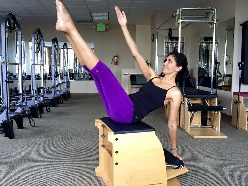 Pilates Teaser with a Side Arm Twist on the Wunda Chair