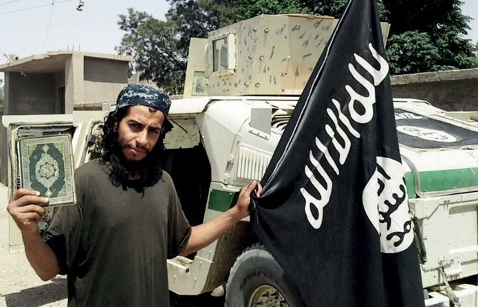 An undated photograph of a man described as Abdelhamid Abaaoud that was published in the Islamic State's online magazine Dabi
