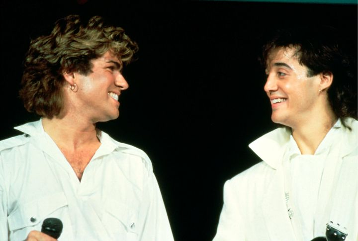 George Michael and Andrew Ridgeley perform as Wham! in Sydney in 1985.