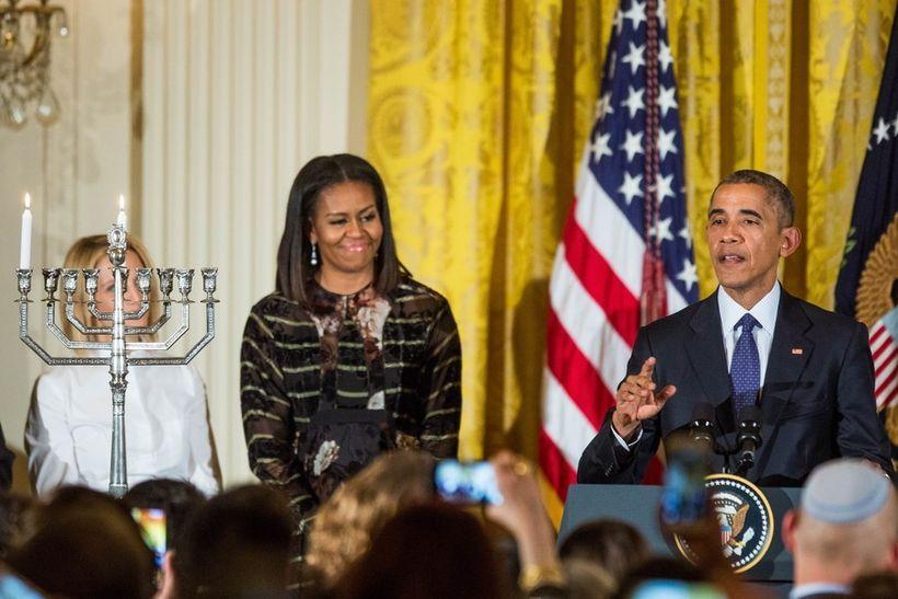 Barack and Michelle Obama celebrate Hanukkah at the White House (Dec. 14, 2016).