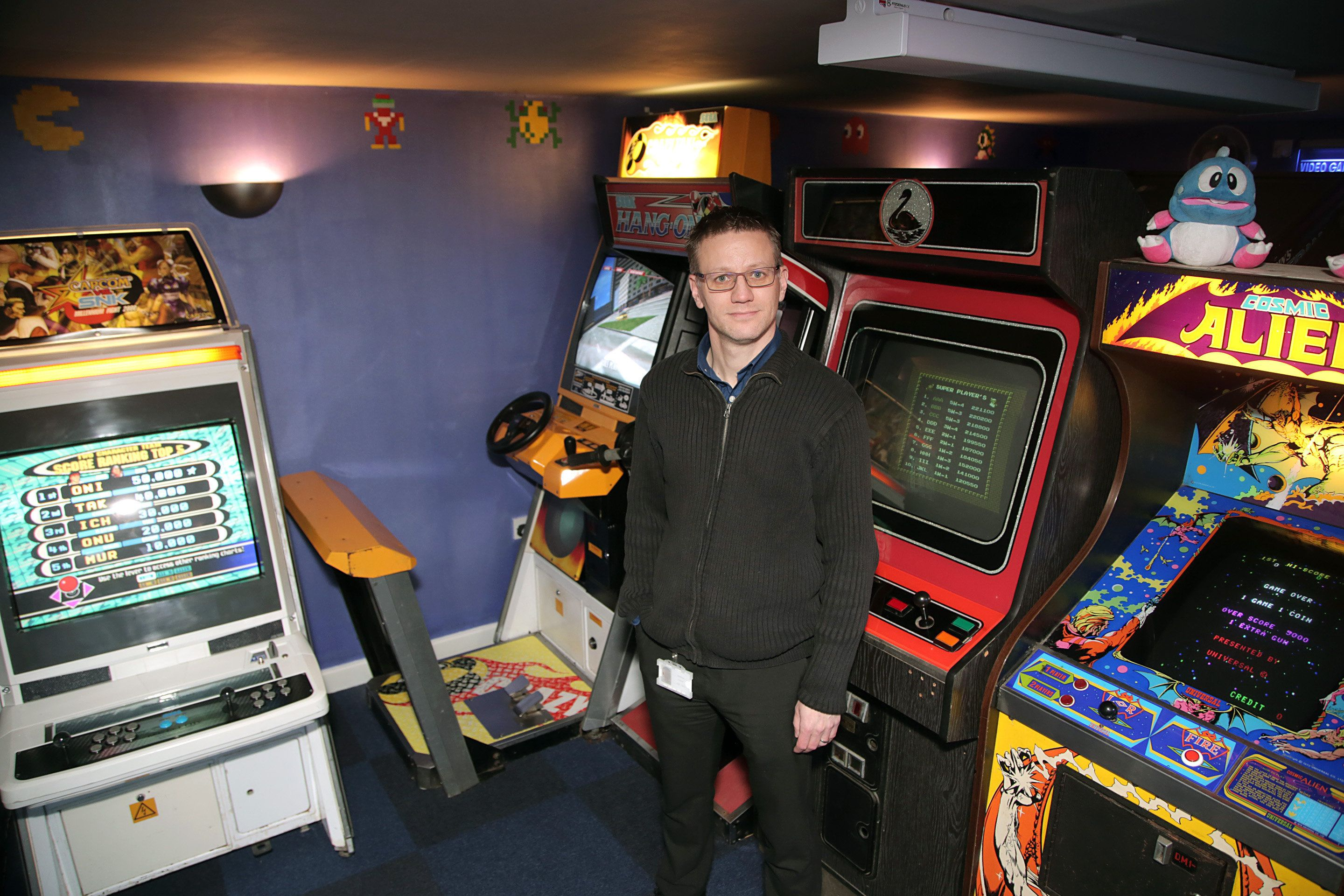 Man Turns His Garage Into Ultimate Retro Video Game