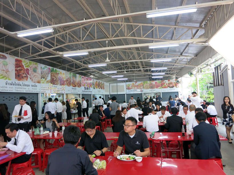Cafeteria at Goethe Institute full of Bangkok office workers