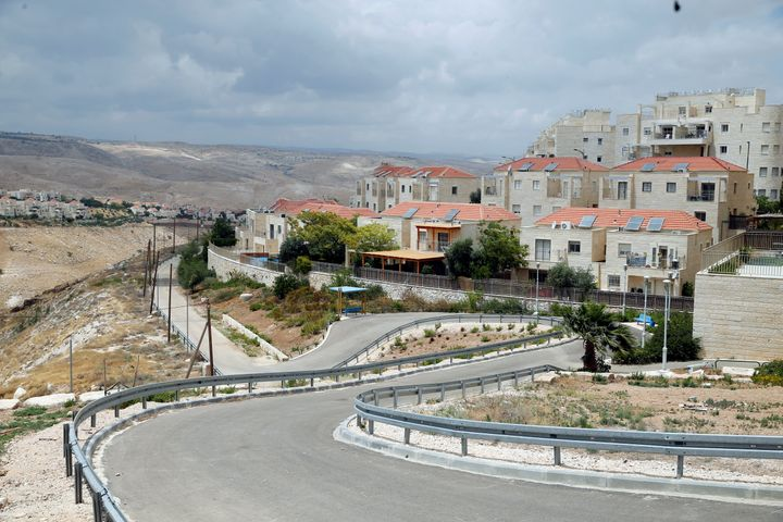 Houses are seen in the West Bank Jewish settlement of Maale Adumim May 24, 2016.