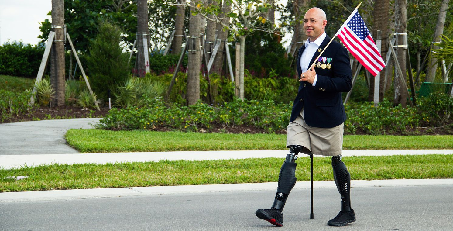 Brian Mast lost both his legs in 2010 after he was struck by an IED in Afghanistan. In November, he was elected to