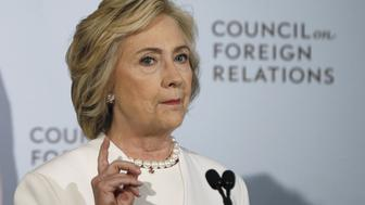 Democratic U.S. presidential candidate Hillary Clinton speaks at the Council on Foreign Relations in New York November 19, 2015. REUTERS/Shannon Stapleton/File Photo