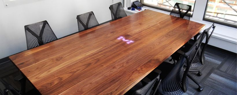 Conference table made for One Mighty Roar