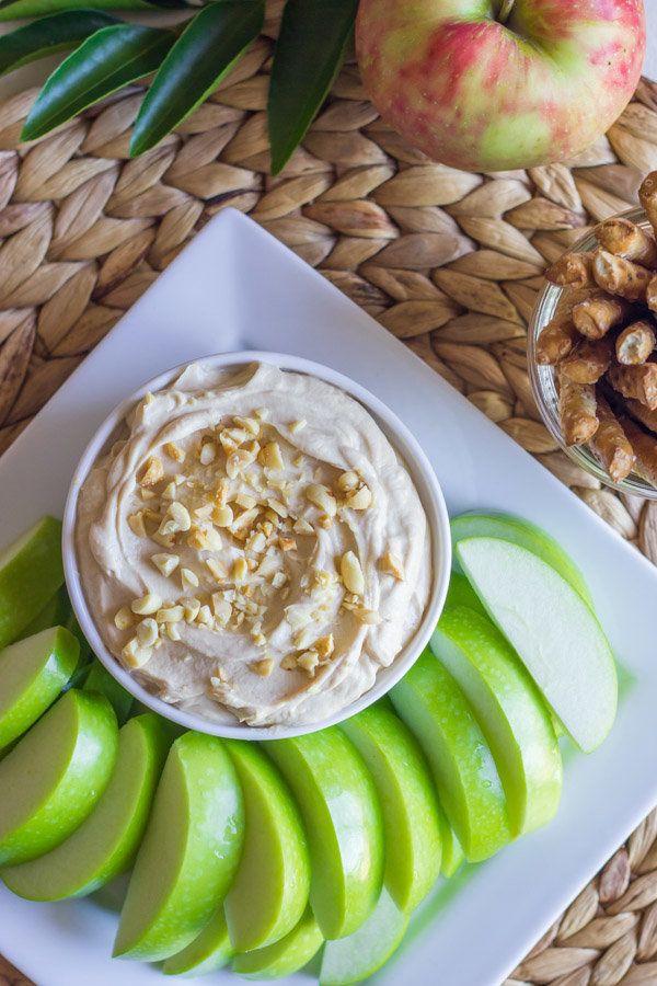 """<strong>Get the <a href=""""http://lovelylittlekitchen.com/greek-yogurt-peanut-butter-dip/"""" target=""""_blank"""">Greek Yogurt Peanut"""