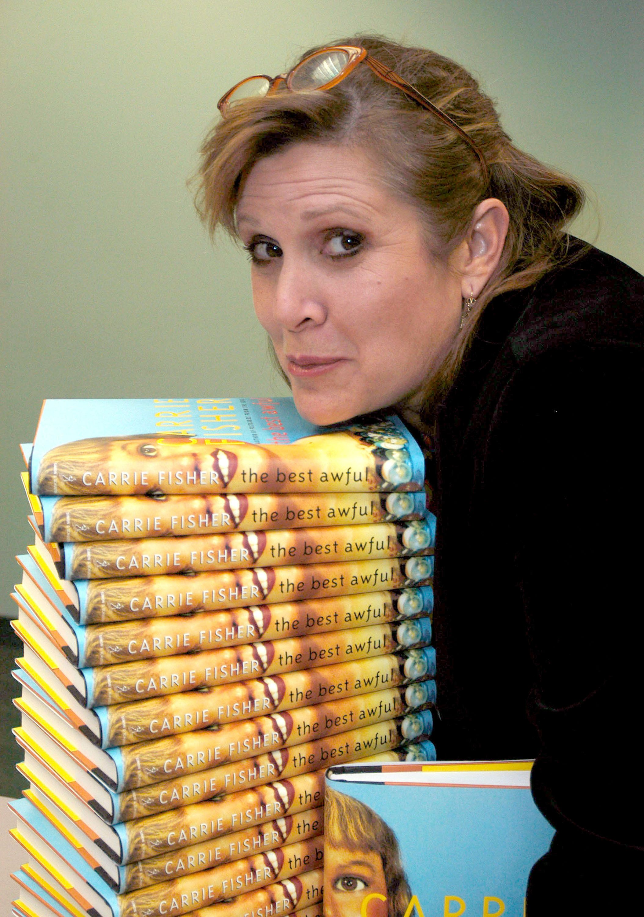 Carrie Fisher at a signing of her novel 'The Best Awful' in 2004.