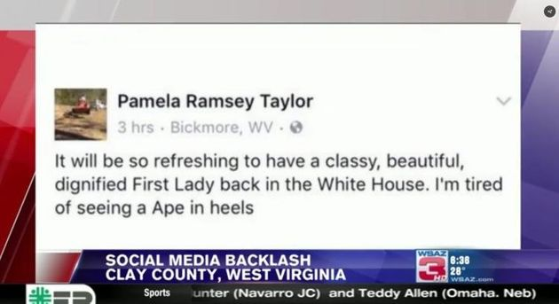 West Virginia Woman Who Called Michelle Obama 'Ape in Heels' Fired