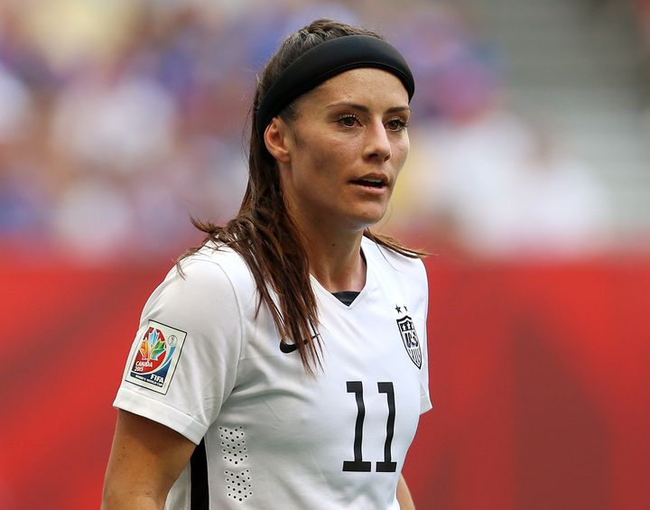United States' Ali Krieger during the FIFA Women's World Cup Canada 2015 Final match between USA and Japan at BC Place Stadium in Vancouver, Canada.