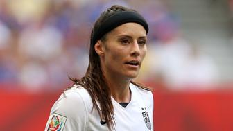 United State's Ali Krieger during the FIFA Women's World Cup Canada 2015 Final match between USA and Japan at BC Place Stadium in Vancouver, Canada.