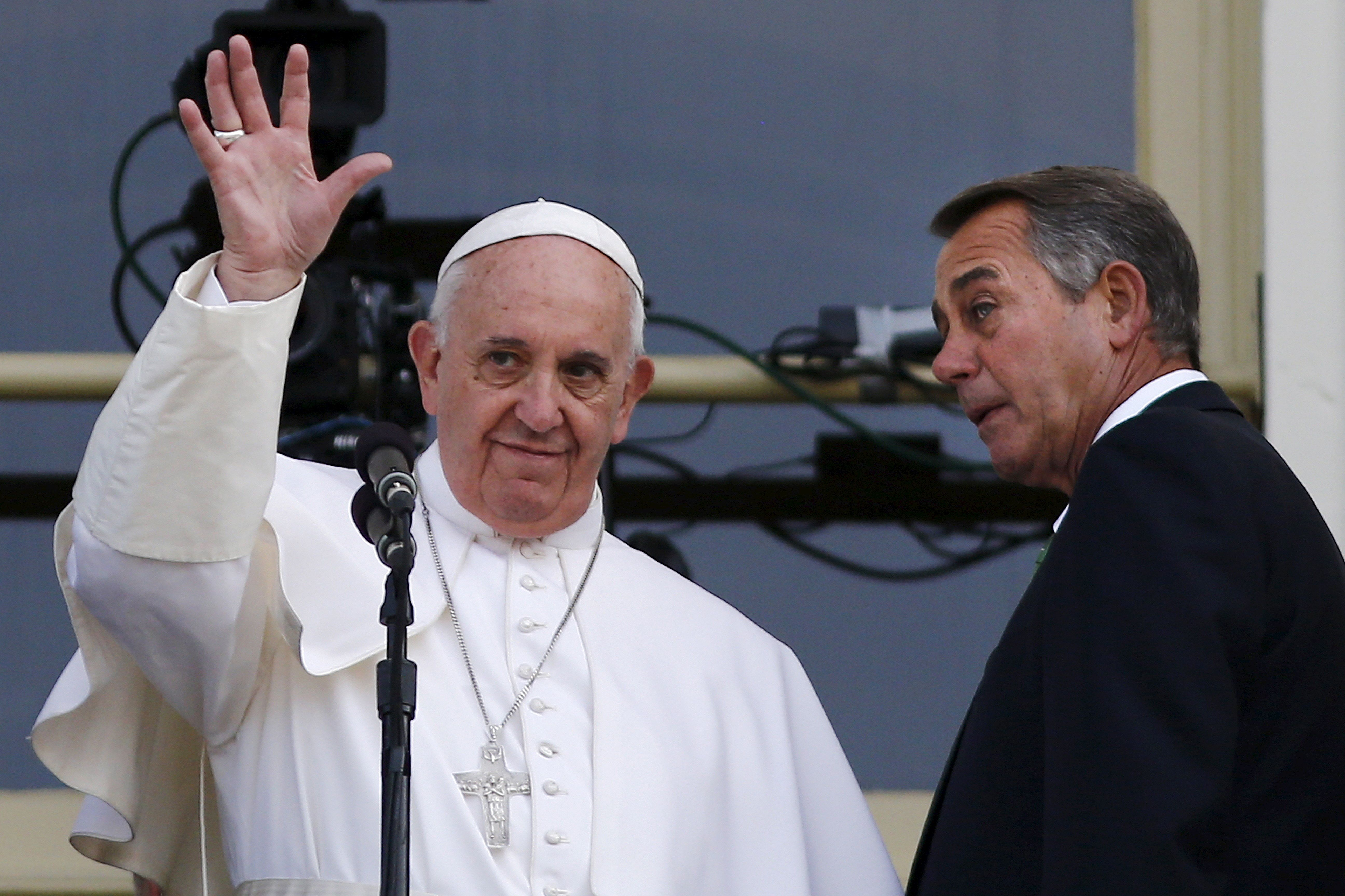 Pope Francis was addressing Congress but speaking to the world.