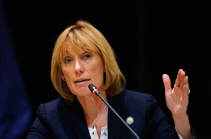 New Hampshire Gov. Maggie Hassan has called for a halt on admitting Syrian refugees.