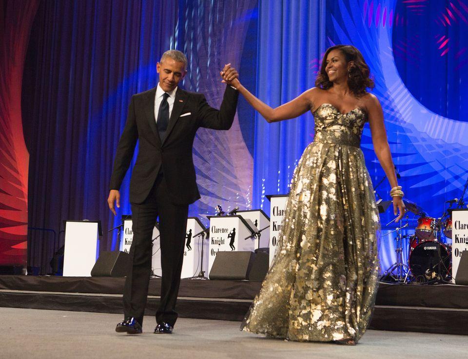 """<a href=""""http://www.popsugar.com/celebrity/Barack-Michelle-Obama-Black-Caucus-Awards-Dinner-2016-42410600"""" target=""""_blank"""">We"""
