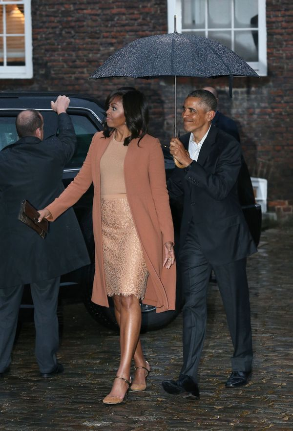 """<a href=""""http://www.huffingtonpost.com/entry/kate-middleton-michelle-obama-dinner_us_571a21ede4b0d4d3f722f787"""">Wearing Narcis"""