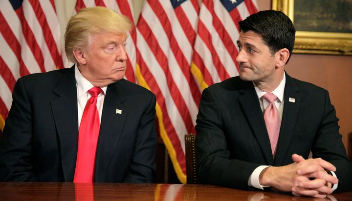 Speaker of the House Paul Ryan (R-Wis.), meeting here with President-elect Donald Trump on Capitol Hill on Nov. 10, 2016, sa