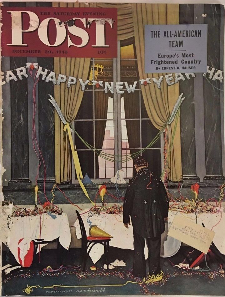 """Party's Over"" by Norman Rockwell"