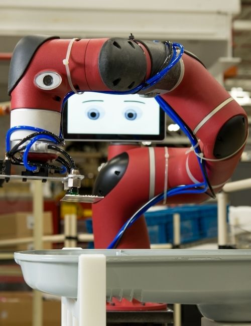 Sawyer, a Rethink Robotics robot used in manufacturing