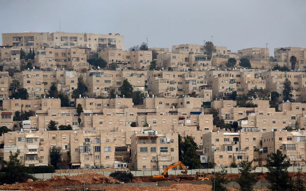 A general view taken on December 28, 2016 shows buildings in Ramat Shlomo, a Jewish settlement in the...