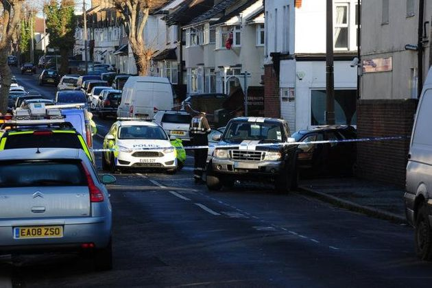 The marked police car was pursuing a maroon Ford Escort which was being driven by a teenage boy after...