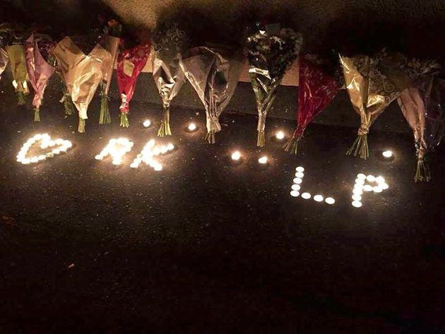 A candle vigil to Reigan Knight and Liam Phillips who have died after a car
