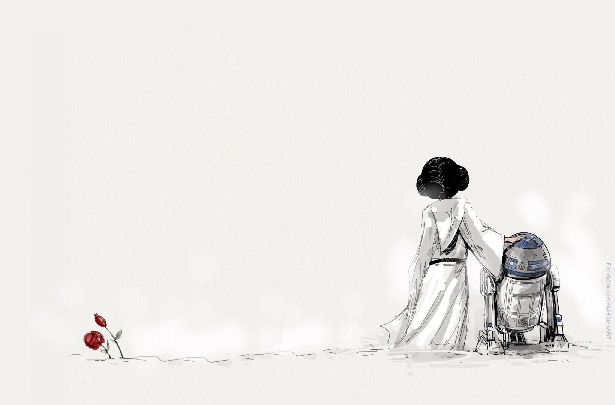 """A simple but touching tribute by MJ Hiblen to Carrie Fisher, who played Princess Leia in the """"Star Wars"""" films, a"""