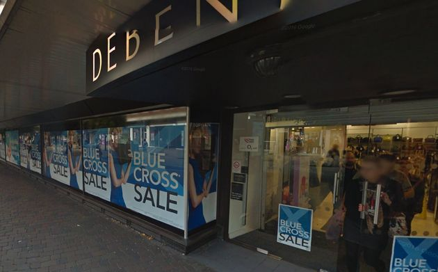 Staff at the Debenhams store in Portsmouth, Hampshire, have apologised to Russell Allen following the