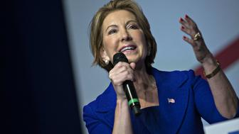 Carly Fiorina, former chairman and chief executive officer of Hewlett-Packard Co. and former 2016 Republican presidential candidate, speaks during Faith and Freedom Coalitions Road to Majority conference in Washington, D.C., U.S., on Friday, June 10, 2016. McConnell said yesterday that Donald Trump needs to pick an experienced running mate because he doesn't know a lot about the issues and strongly urged him to change course on his rhetoric. Photographer: Andrew Harrer/Bloomberg via Getty Images