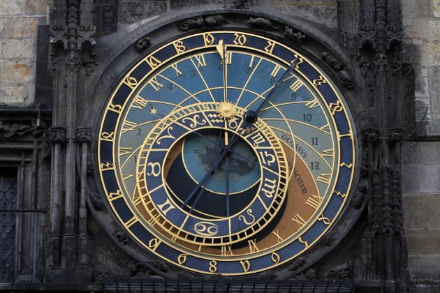 ThePrague Astronomical Clock, a medieval clock that's more than 600 years old. An extra second...