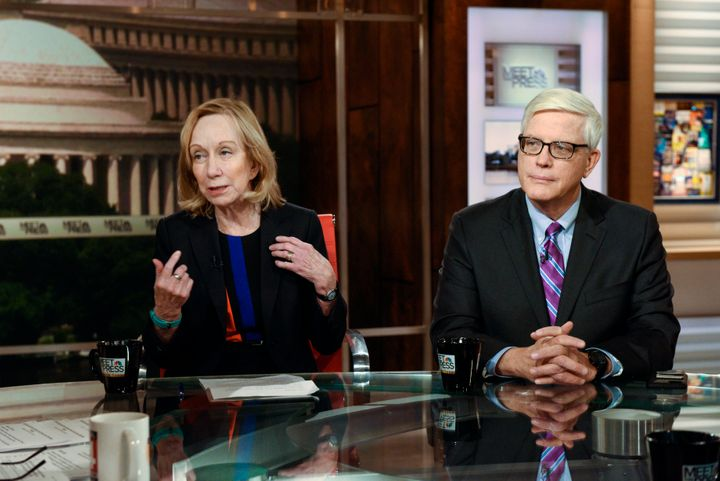 Pictured: (l-r) Doris Kearns Goodwin, Presidential Historian, left, and Hugh Hewitt, Host, The Hugh Hewitt Show right, appear