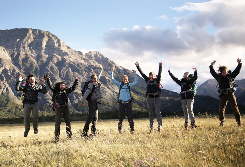 Millennials, Earthwatch Participants, and the Author on the Earthwatch Project <em>Restoring Fire and Wolves to the Canadian