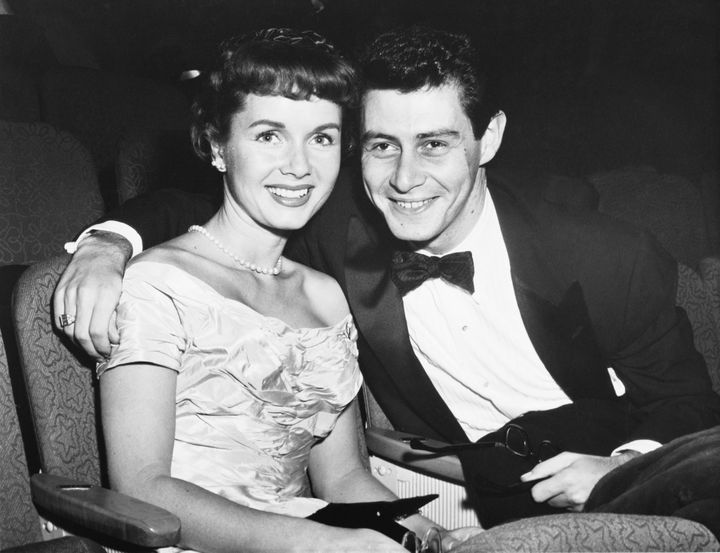 Debbie Reynold's first husband was Eddie Fisher, Carrie Fisher's father.