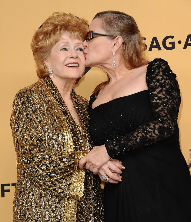 Debbie with daughter Carrie Fisher, who died on