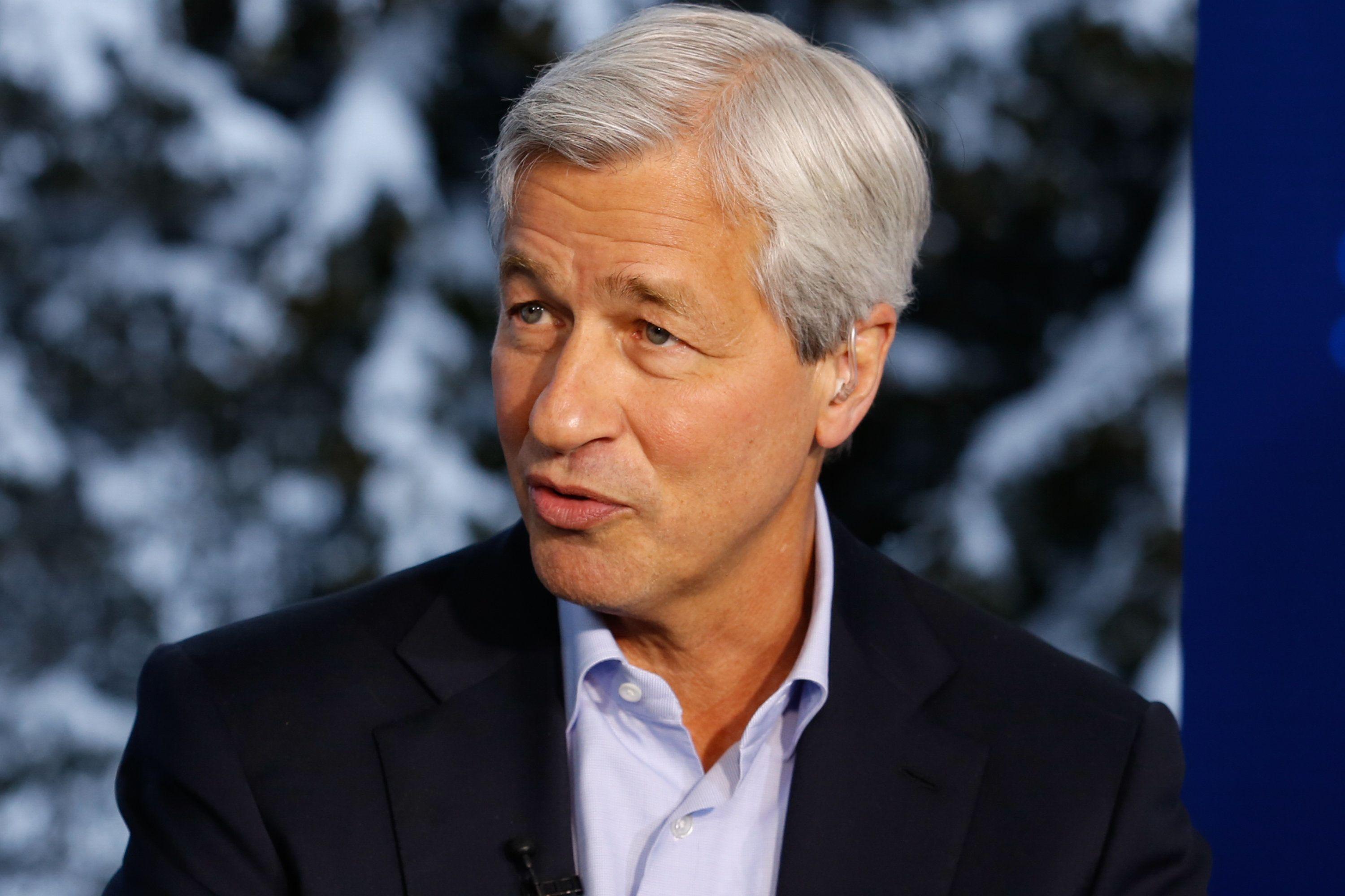 DAVOS 2016; World Economic Forum -- Pictured: Jamie Dimon, chairman, president and CEO of JP Morgan Chase, in an interview at the annual World Economic Forum in Davos, Switzerland, on January 20, 2016 -- (Photo by: David A.Grogan/CNBC/NBCU Photo Bank via Getty Images)