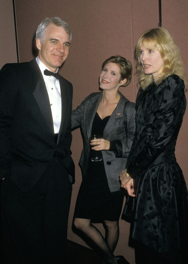Steve Martin had known Carrie Fisher for many years (pictured here in 1987, together with his then-wife...