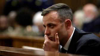 PRETORIA, SOUTH AFRICA - JUNE 13: Oscar Pistorius sits in the dock during his sentencing hearing at North Gauteng High Court don June 13, 2016 in Pretoria, South Africa. Having had his conviction upgraded to murder in December 2015, Paralympian athlete Oscar Pistorius is attending his sentencing hearing and will be returned to jail for the murder of his girlfriend, Reeva Steenkamp, on February 14, 2013. The hearing is expected to last five days. (Photo by Themba Hadebe - Pool/Getty Images)