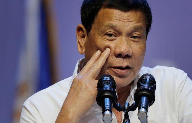 Philippine President Rodrigo Duterte said he once threw a man out of a