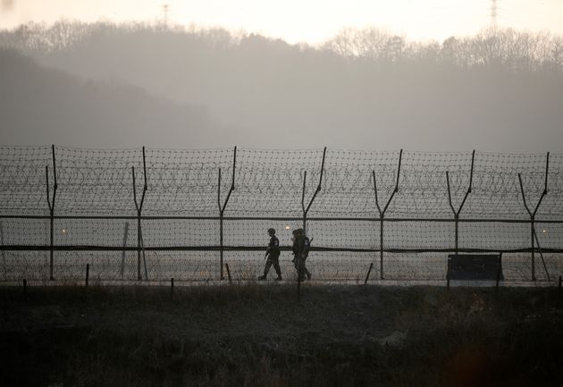 It's unusual for a North Korean to cross the heavily mined demilitarized zone, lined with barbed wire...
