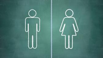 gender equal opportunities concept, man and woman side by side