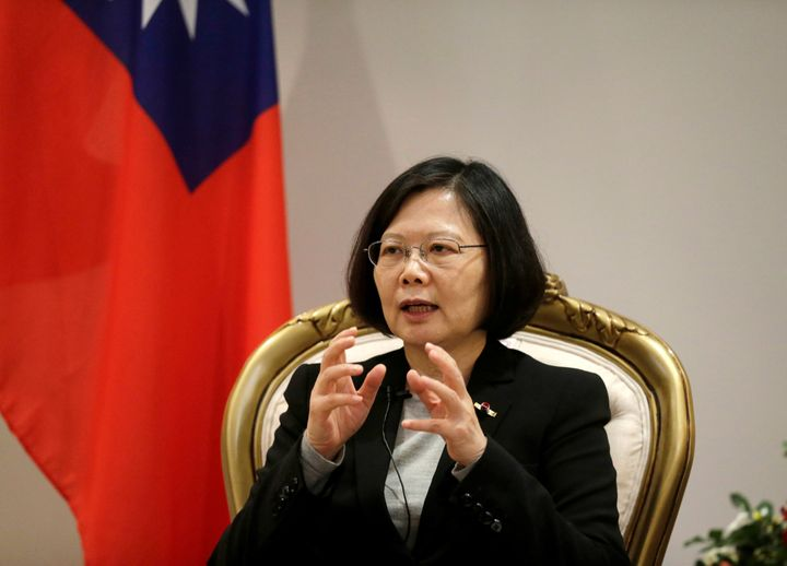 Taiwan's President Tsai Ing-wen speaks during an interview in Luque, Paraguay, June 28, 2016.