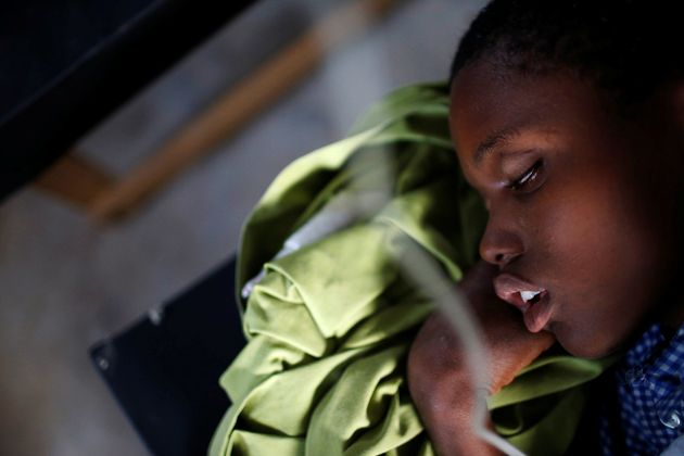A victim of cholera receives treatment at the state hospital after Hurricane Matthew, in Jeremie, Haiti,...