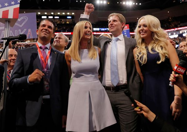 Donald Trump Jr., Ivanka Trump, Eric Trump and Tiffany Trump. (Not pictured: Barron Trump and hunted African wildlife.)