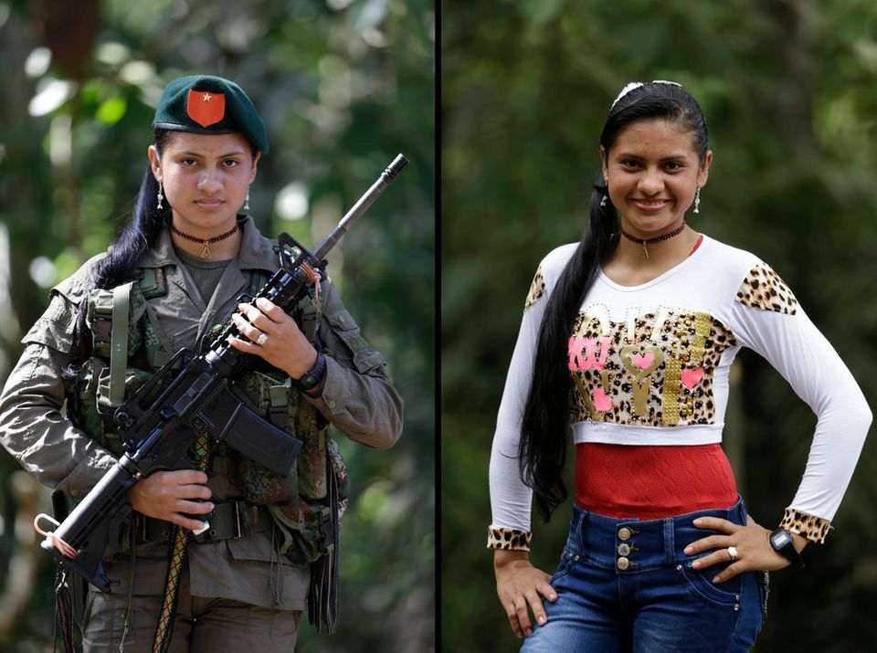Yiceth, 18, spent four years with the FARC. Now she wants to finish high school and go on to study nursing...